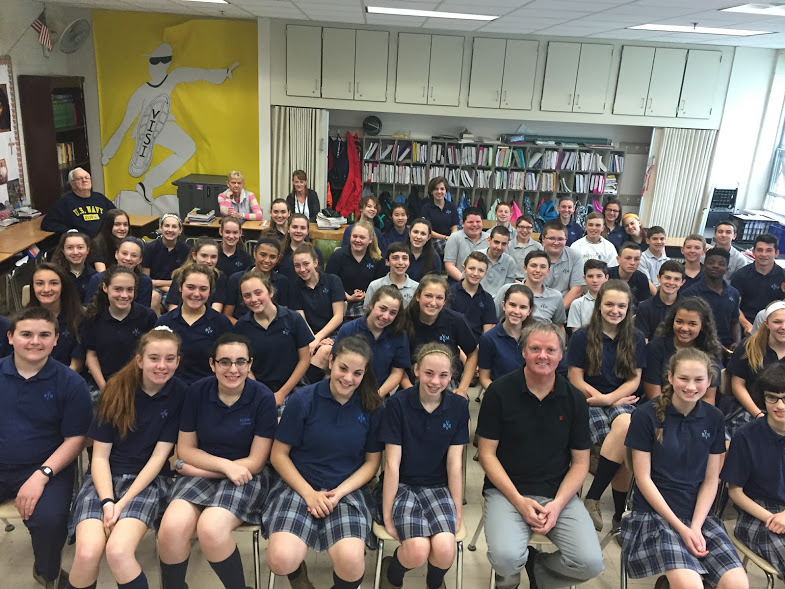 Scott Burke at Visitation BVM School