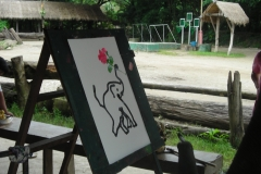 Thailand Elephant Camp Chiang Mai Painting