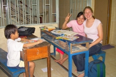 Volunteer Catherine Teaching in Vietnam