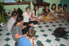 Circle Time Volunteer Teaching in Vietnam