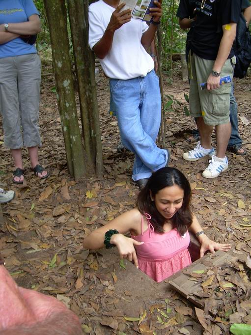 Visiting Cu Chi Tunnels in Vietnam