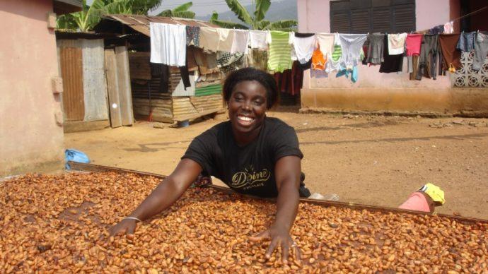 Beatrice Asante of Divine Chocolate in Ghana