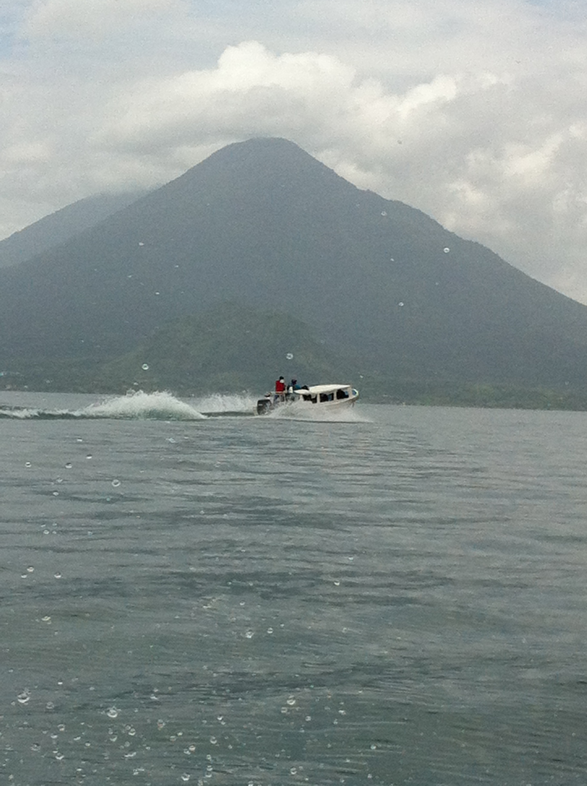 Boat ride on Lake Atitlan while volunteering in Guatemala