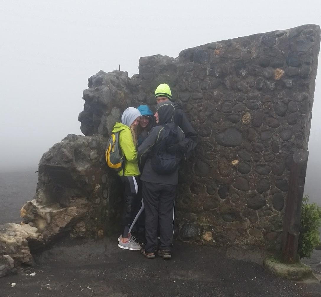 Irazu Volcano Tourists