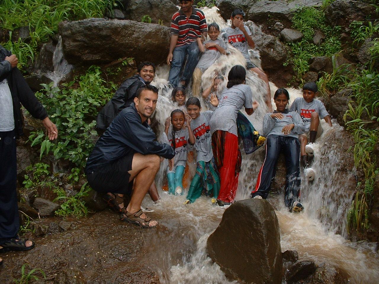 Mike Reeder India Volunteer Waterfall