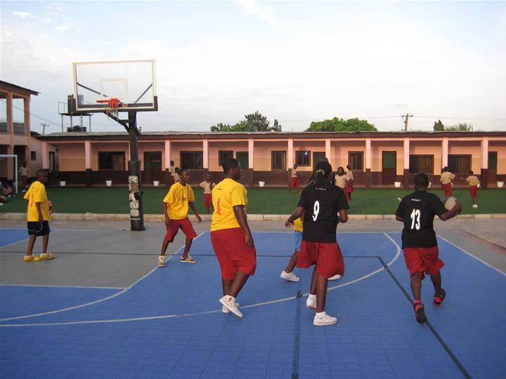 Ghana Africa Basketball Coaching Game