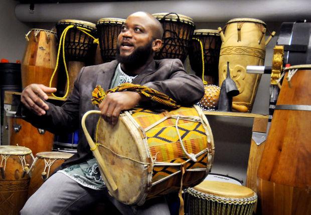 Edi Qbordzi Drummer from Ghana