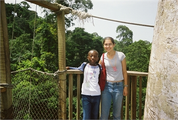 Ghana Volunteer Kaitlyn Scott at Kakum National Park
