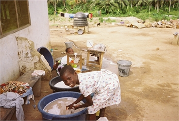 Ghana Volunteer Kaitlyn Scott Laundry