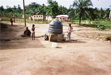 Ghana Volunteer Kaitlyn Scott Water Tank