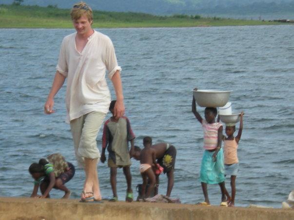 Ghana Volunteer Nicholas Mansson Lake Volta