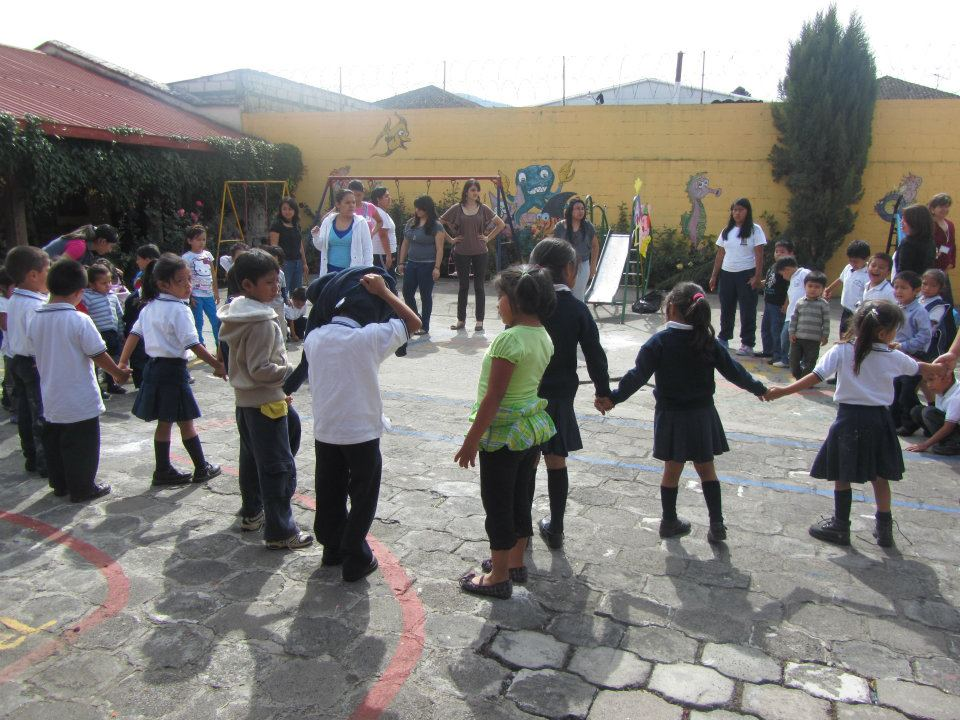 Guatemala Orphanage Volunteering Sabrina at Playground