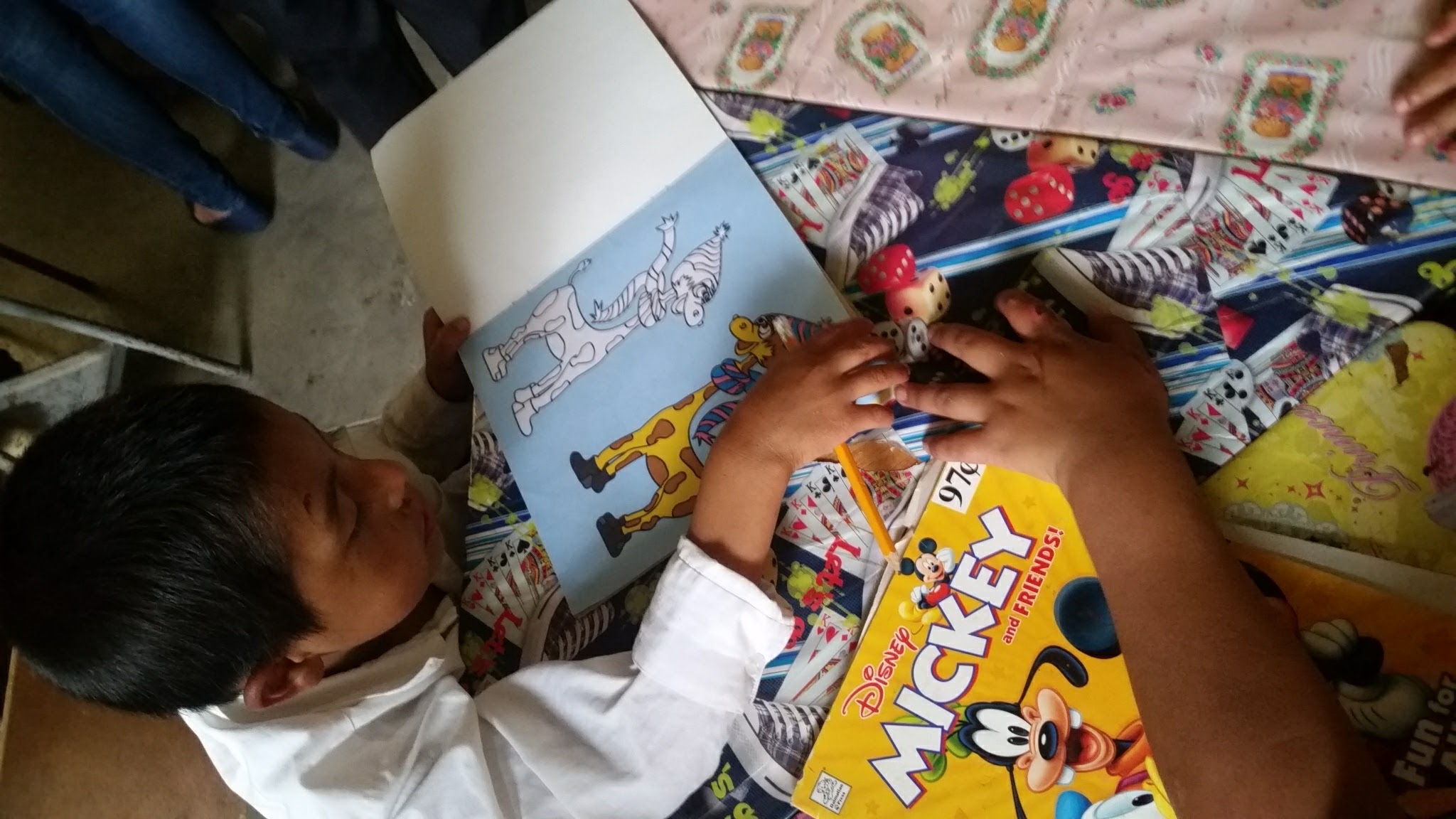 Guatemala Volunteer After School Coloring
