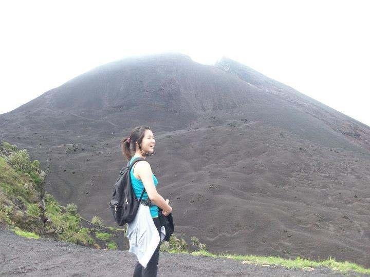 Marissa Hiking Pacaya Volcano in Guatemala