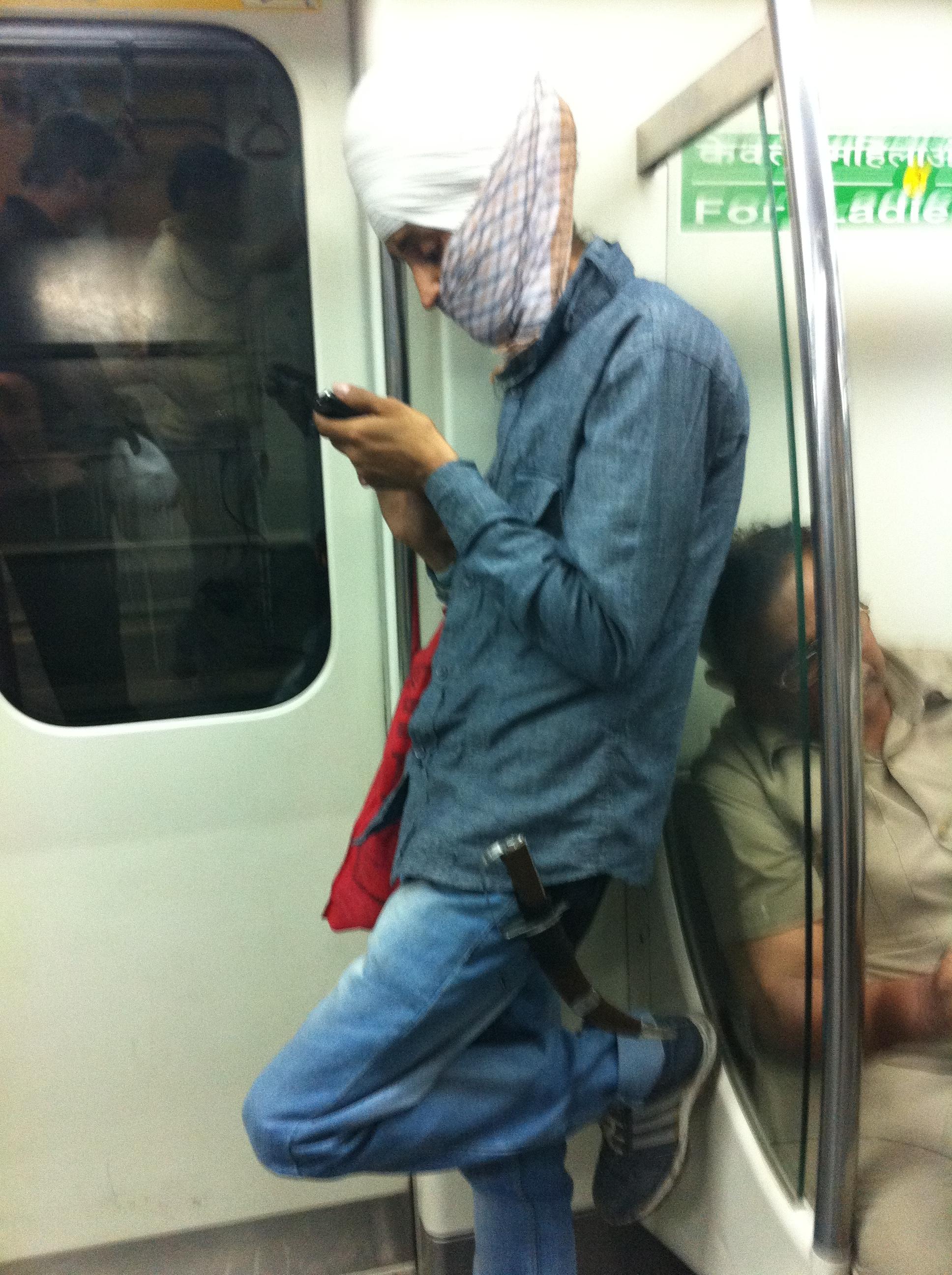 India Delhi Metro Sikh Kirpan