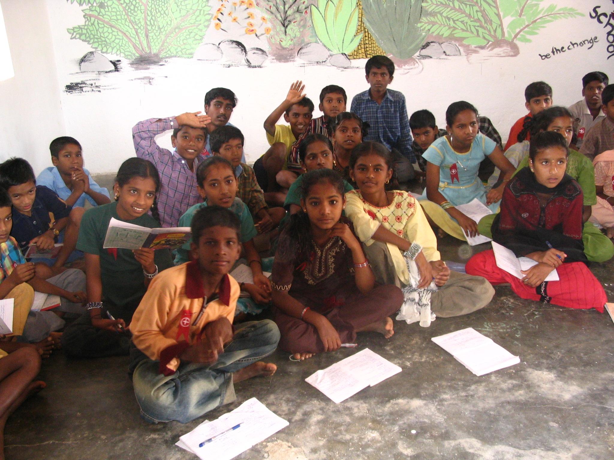 Kengeri School - Ready for Class - Volunteering Bangalore India