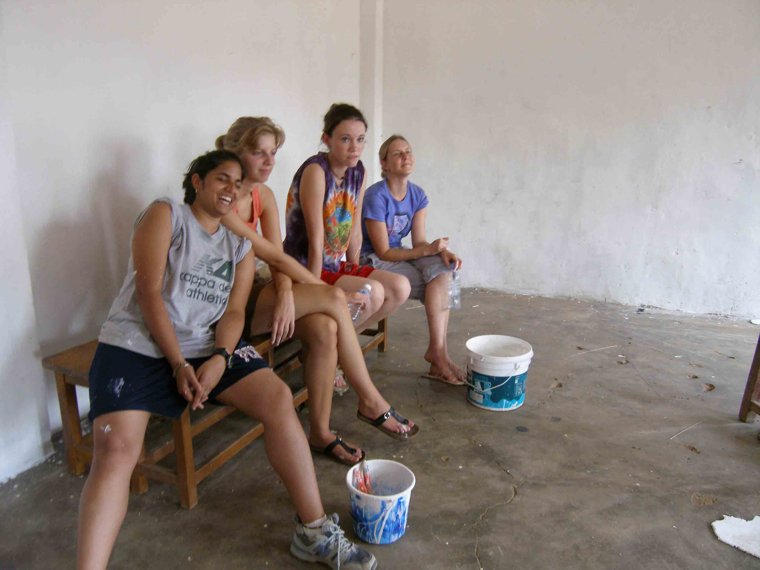 Kengeri School - Break Time - Volunteering Bangalore India