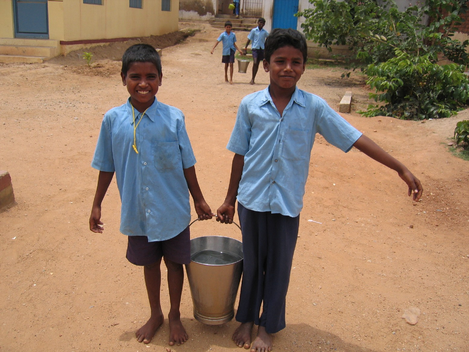 Kengeri School - Water - Volunteering Bangalore India