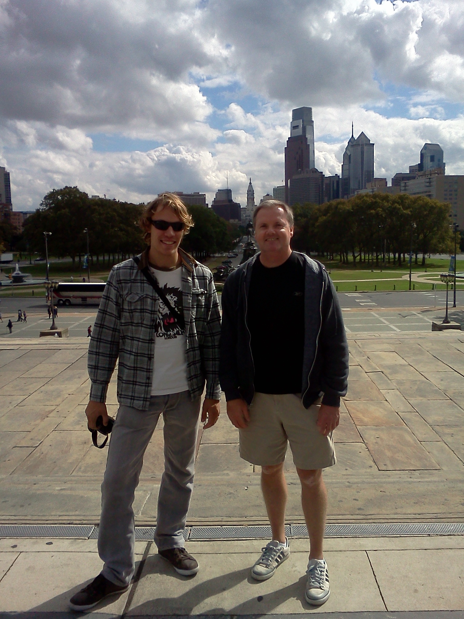 Kenya Medical Volunteer Ben Mcaskill at Philadelphia Art Museum with Scott Burke