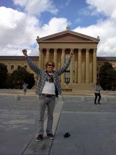 Kenya Medical Volunteer Ben Mcaskill at Philadelphia Art Museum