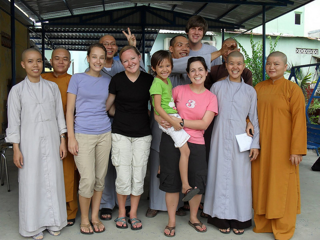 Vietnam Teach Buddhist Monks Temple