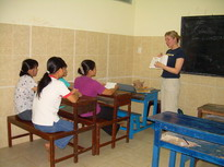 Vietnam Volunteer Catherine Gradel Teaching