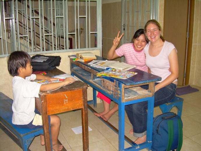 Vietnam Volunteer Catherine Gradel Tutoring