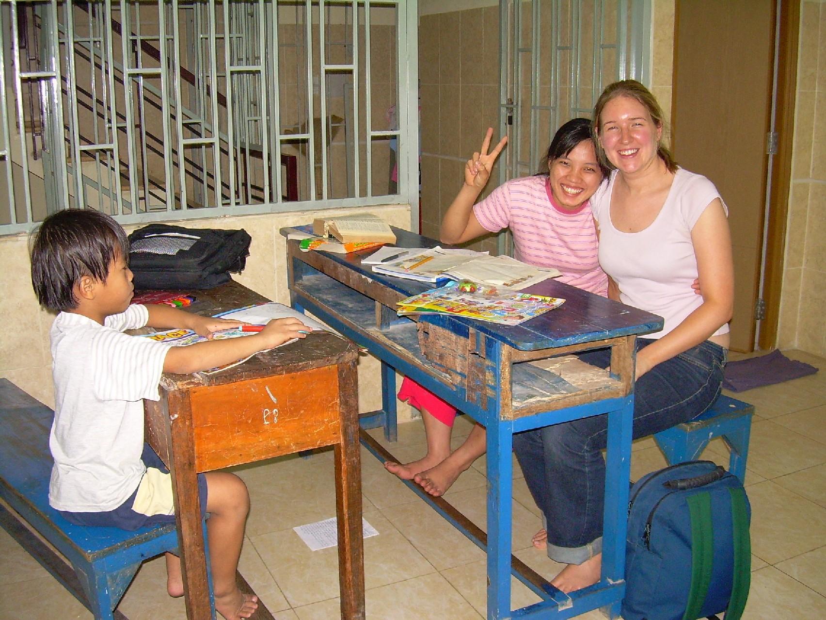 Vietnam Volunteer Catherine Gradel Tutoring
