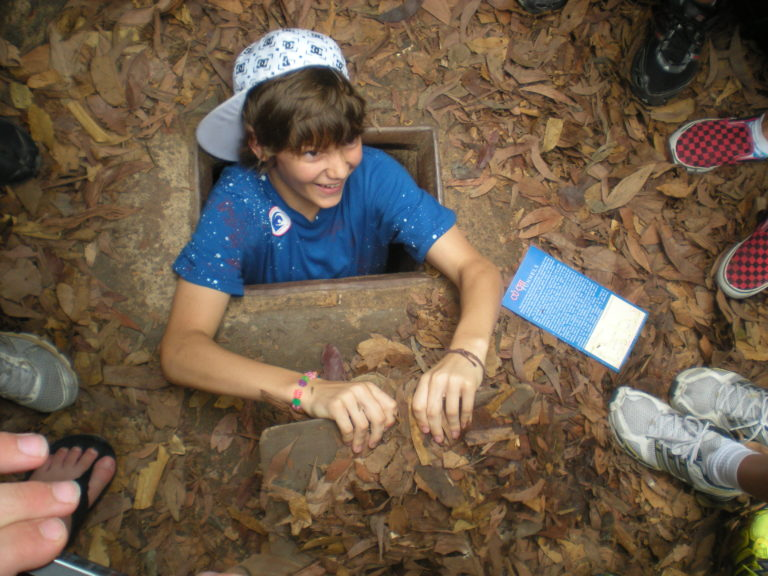 Vietnam Volunteering Elsa High Cu Chi Tunnels Surprise