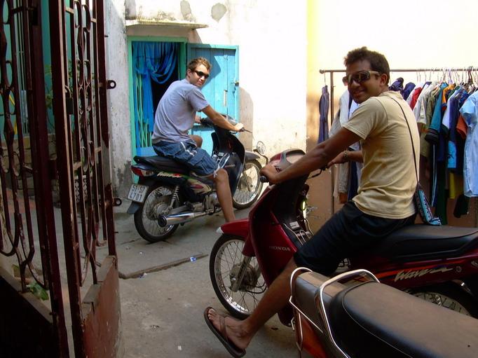 Vietnam Volunteers Norman Kirby Ankur Agrawal Motorbikes